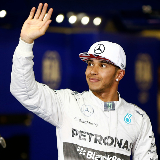 Lewis Hamilton accepts Sportsman of the Year accolade