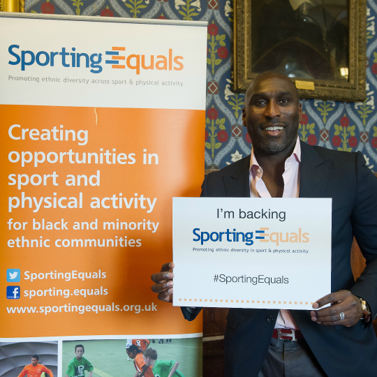 Sol Campbell pledges support to Sporting Equals